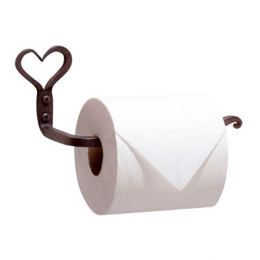 Wrought Iron Toilet Paper Holder | Heart | Small