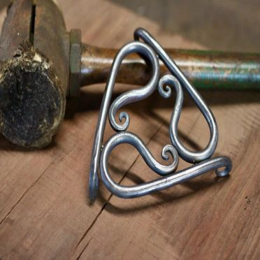 Wrought Iron Trivet | Rounded