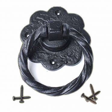 Wrought Iron Twisted Ring Cabinet Pull