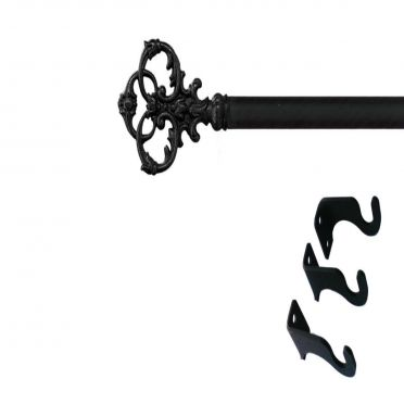 Wrought Iron Curtain Rod Victorian 36 to 60 Inches