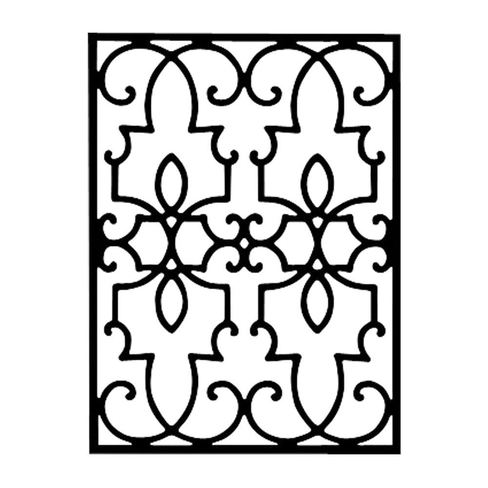 Square Wrought Iron Wall Decor Iron Wall Decor Large Rectangle