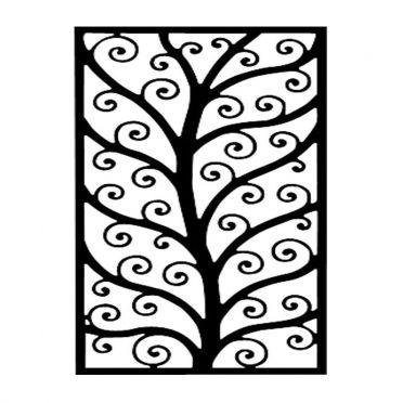 Wrought Iron Wall Decor Rectangle Tree Design