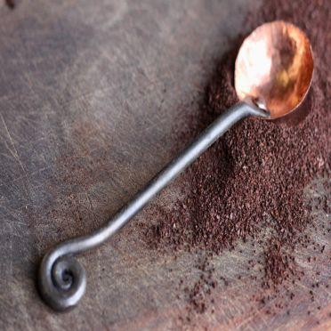 Wrought Iron Coffee Scoop Fiddlehead