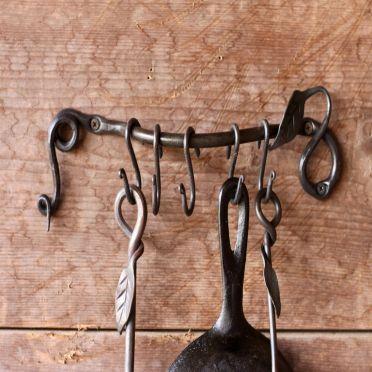 Wrought Iron Pot Rack | Pot Holder Leaf Design